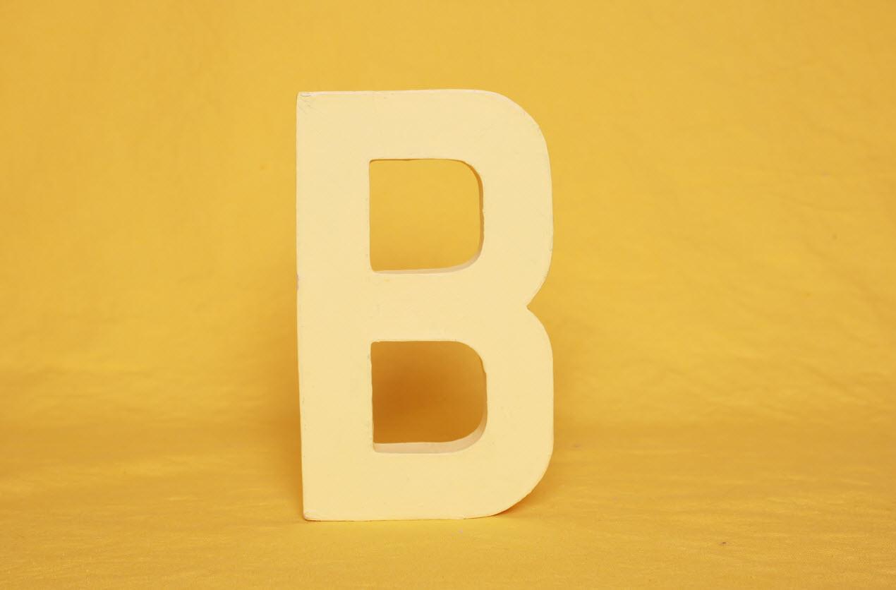 Letter B gag